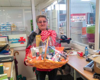 Crescencio Dieste Bailo, ganador de la cesta de navidad de Agrigán