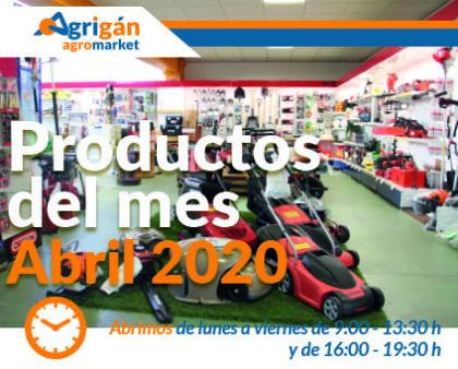 Productos destacados del mes de abril de Agrigán