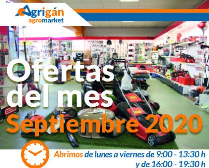 Ofertas del mes de septiembre de Agrigán