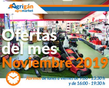 Ofertas del mes de noviembre de Agrigán