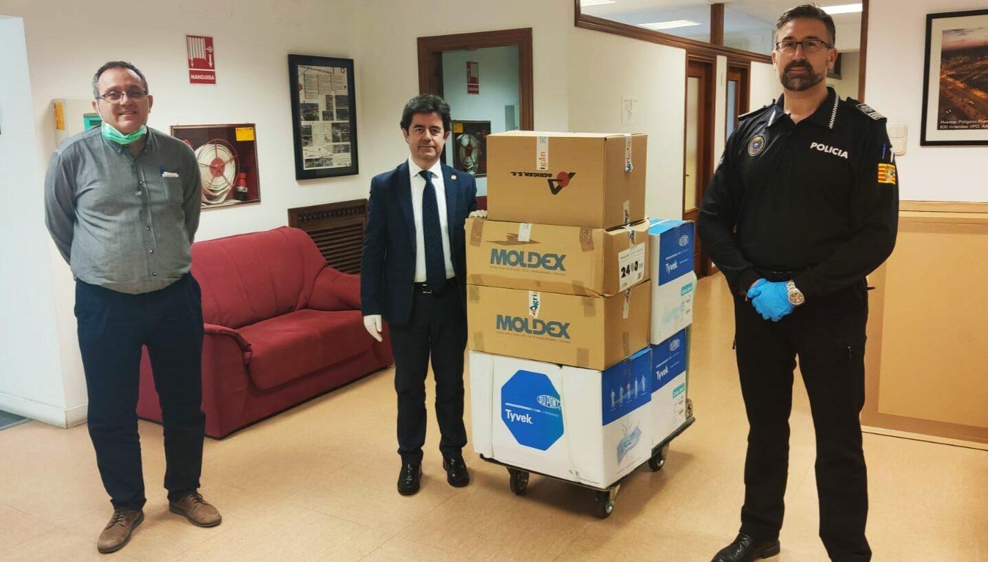 Agrigán dona material de protección a diferentes organizaciones oscenses